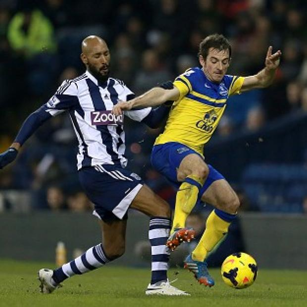 Salisbury Journal: Nicolas Anelka, left, started West Brom's draw with Everton