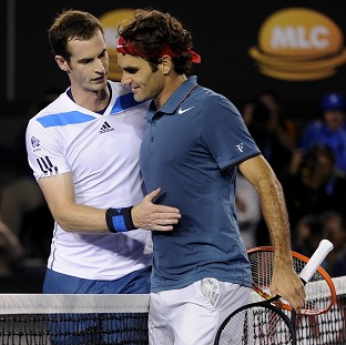 Andy Murray, left, was beaten by Roger Federer, right, in the Australian Open quarter-finals (AP)