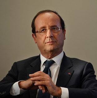 French President Francois Hollande is due to arrive in the UK on Frid