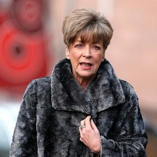 Salisbury Journal: Coronation Street actress Anne Kirkbride arrives at Preston Crown Court for the trial of fellow star William Roache.