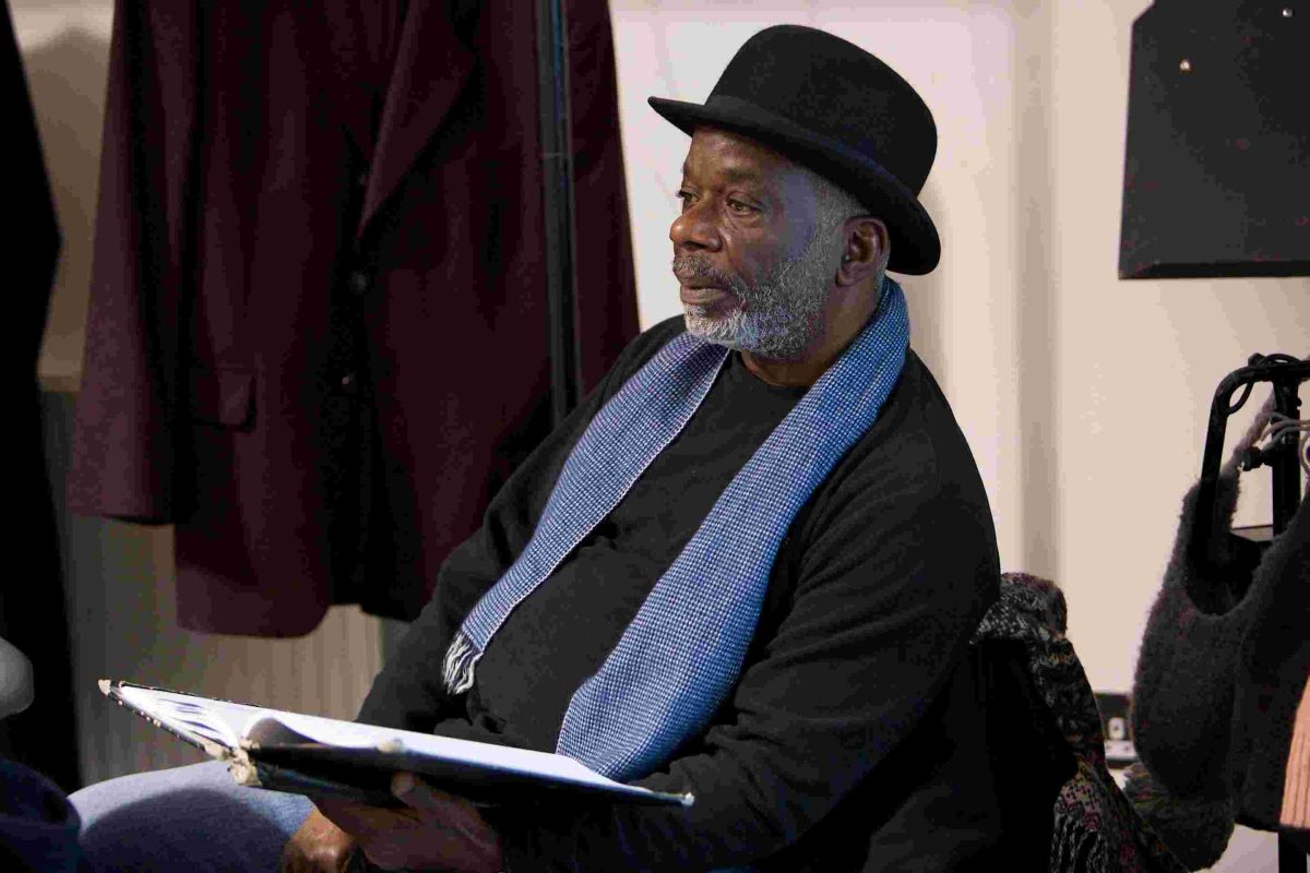 Joseph Marcell in rehearsals for Gaslight