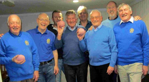 Verwood Rotary Club's skittles team, victorious after seeing off Bournemouth rotariians.