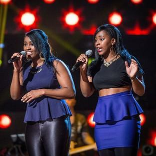 Tila and Tavelah taking part in the blind auditions of The Voice