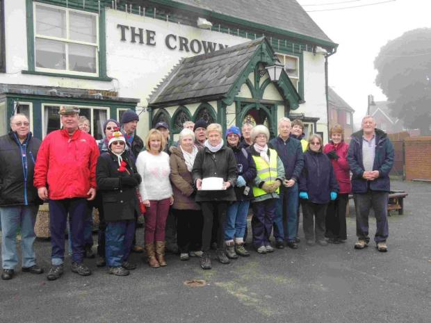 Birthday for Ludgershall walking group