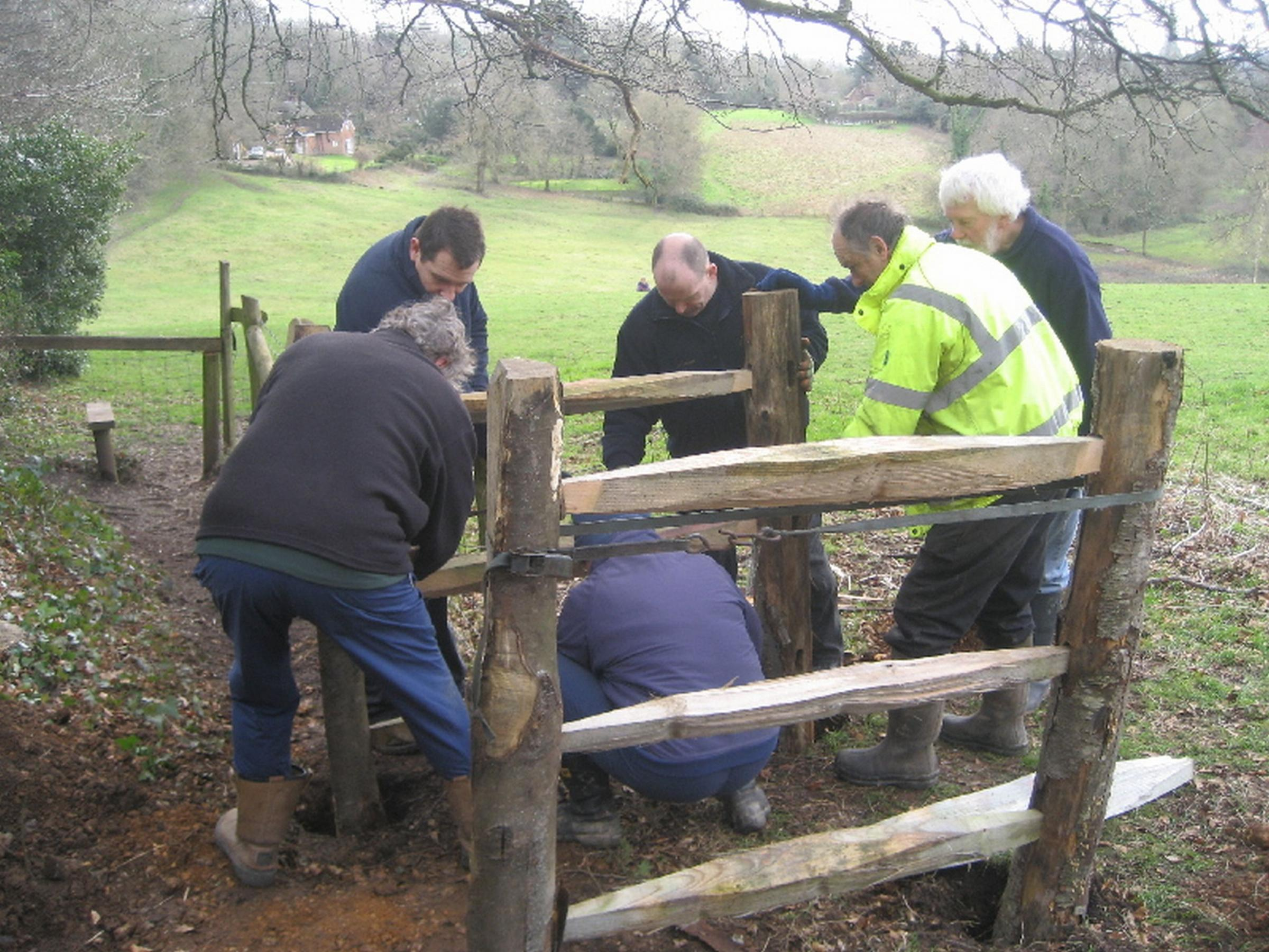 Footpath volunteers put in 50th gate