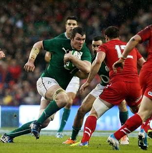 Peter O'Mahony, left, put in a man-of-the-match performance against Wales
