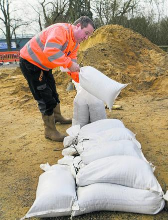 Staff working flat out to protect people from flooding