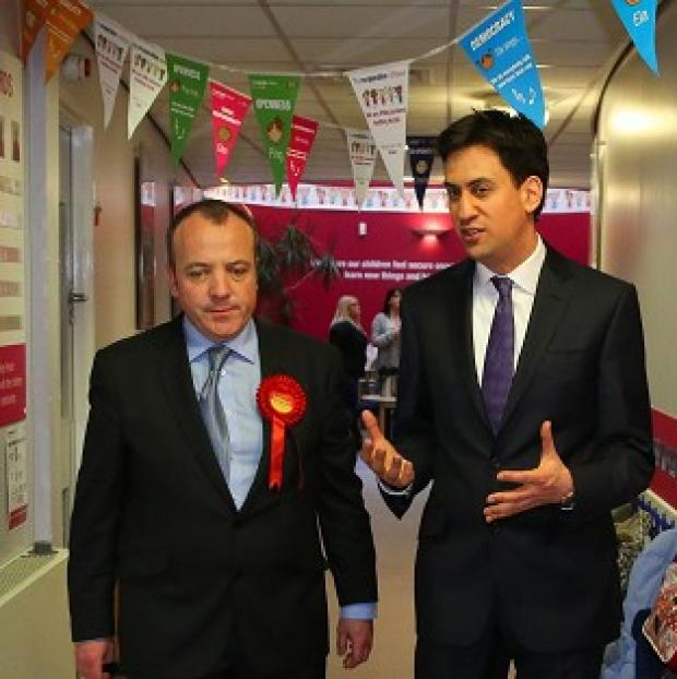 Salisbury Journal: Labour Leader Ed Miliband helped new Wythenshawe and Sale East MP Michael Kane campaign