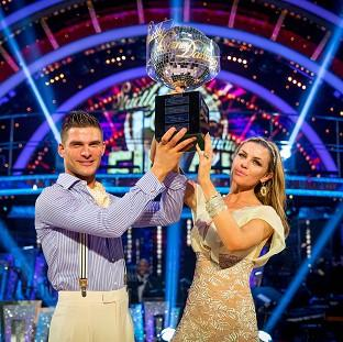 Salisbury Journal: Abbey Clancy with her dance partner Aljaz Skorjanec after they were crowned Strictly Come Dancing champions.
