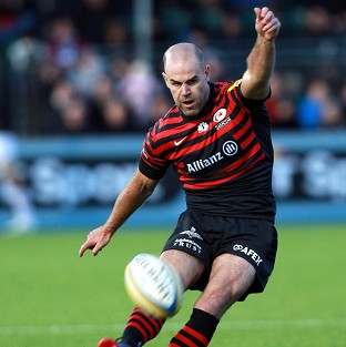 Charlie Hodgson kicked five penalties to hand Saracens victory