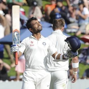 Ajinkya Rahanescored his first century for India (AP)