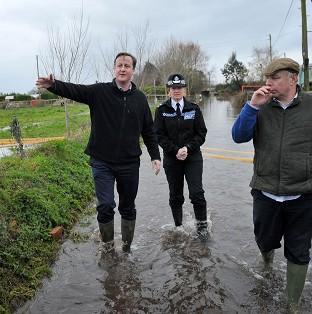 Salisbury Journal: Prime Minister David Cameron with Bridgwater and West Somerset MP Ian Liddell-Grainger at Goodings Farm in Fordgate, Somerset