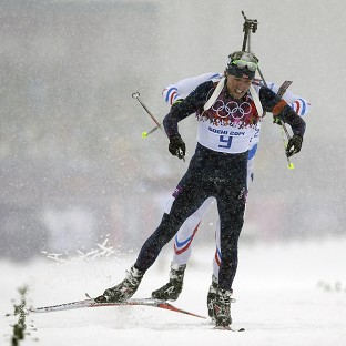 Emil Svendsen edged gold in the men's biathlon 15k mass start (AP)