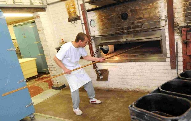 Salisbury Journal: Baker Tomasz Zarnowski at Long Crichel Bakery. DC3214P34