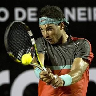 Rafael Nadal continued his comeback from injury by reaching the last eight of the Rio Open (AP)
