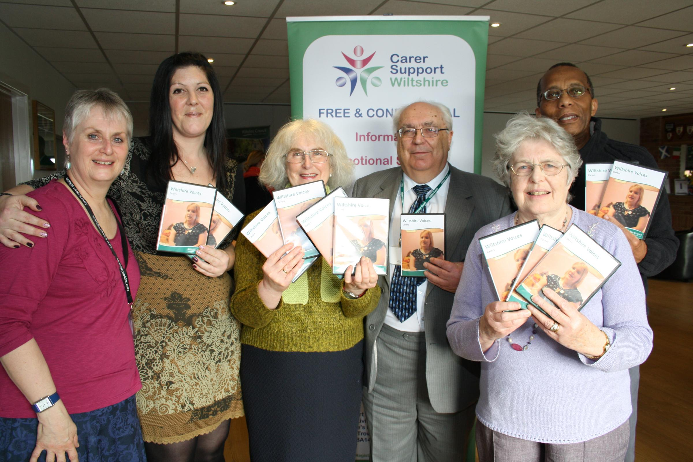 The launch of new DVD about unpaid carers in Wiltshire
