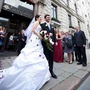 Salisbury Journal: Louisa Hodkin and Alessandro Calcioli have become the first couple in Britain to tie the knot at the Church of Scientology
