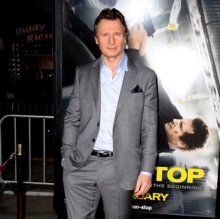 Liam Neeson at the premiere of his latest film Non-Stop in Los Angeles