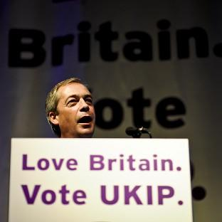 Salisbury Journal: UKIP leader Nigel Farage during his speech at the party's spring conference in Torquay