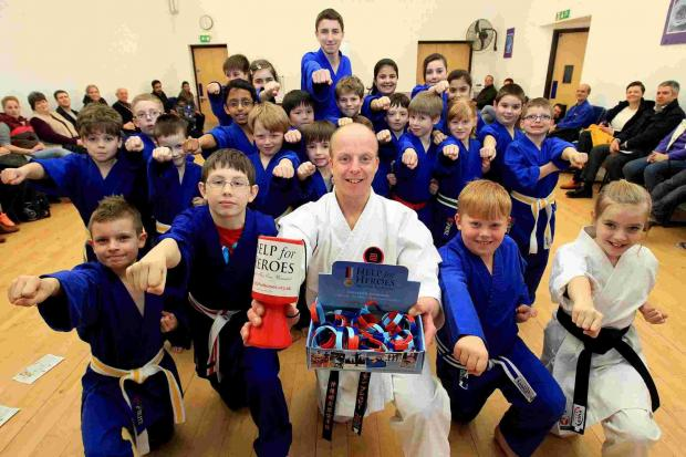 Simon Bushby runs the Black Belt Academy in Verwood and is running a '1,000 techniques' event with children aged five upwards, to raise money for Help for Heroes