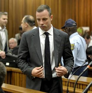 Oscar Pistorius, pictured, is on trial for the murder of Reeva Steenkamp (AP)