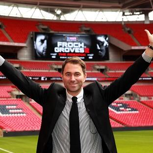 Eddie Hearn was at Wembley to announce the venue
