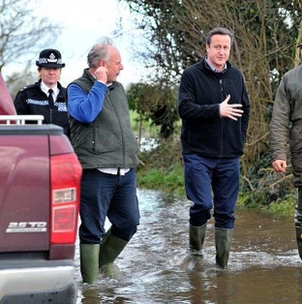 Salisbury Journal: Prime Minister David Cameron with Bridgwater and West Somerset MP Ian Liddell-Grainger during a visit to Somerset