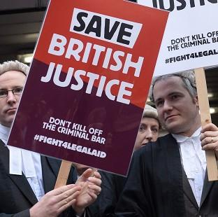 Salisbury Journal: Barristers and solicitors protest during the nationwide strike
