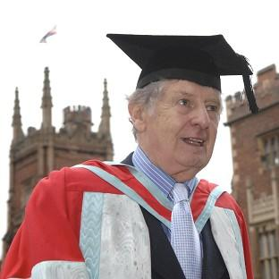 James 'Jimmy' Ellis when receiving an honorary degree at Queen's University in Belfast.