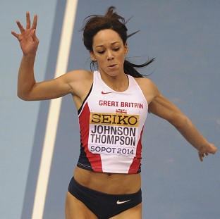 Katarina Johnson-Thompson claimed silver with a new personal best of 6.81m (AP)