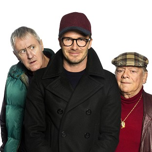 David Beckham joined Sir David Jason and Nicholas Lyndhurst in a special Only Fools And Horses sketch