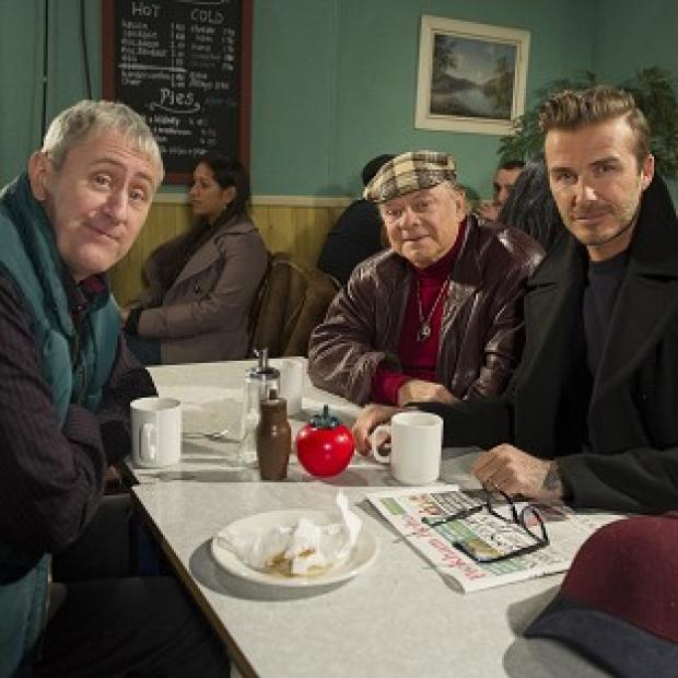 Salisbury Journal: David Beckham joins Sir David Jason and Nicholas Lyndhurst as a guest in a special Only Fools And Horses sketch for Sport Relief