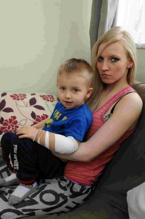 Natalie Kulwinska with her son Dominic