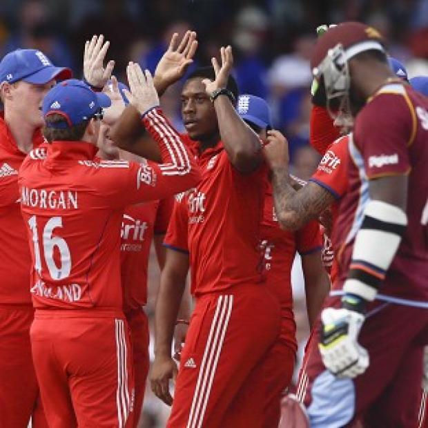 Salisbury Journal: Chris Jordan, centre, produced a superb all-round display for England (AP)