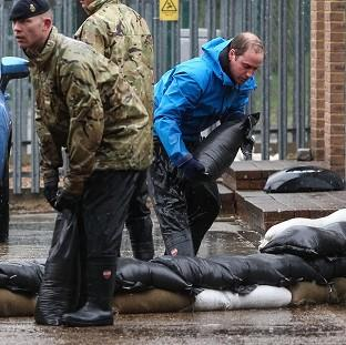 Salisbury Journal: The Duke of Cambridge, who last month helped carry sandbags in Datchet, Berkshire, has along with the Duchess of Cambridge, donated �5,000 to help flood victims in Rhyl, North Wales.