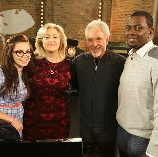 Salisbury Journal: Georgia Harrup, Sally Barker and Bizzi Dixon make up 'Team Tom' on The Voice