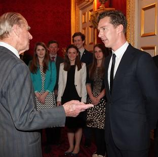 Salisbury Journal: Benedict Cumberbatch met the Duke of Edinburgh during the ceremony