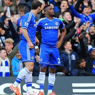 Samuel Eto'o, right, started Chelsea's rout