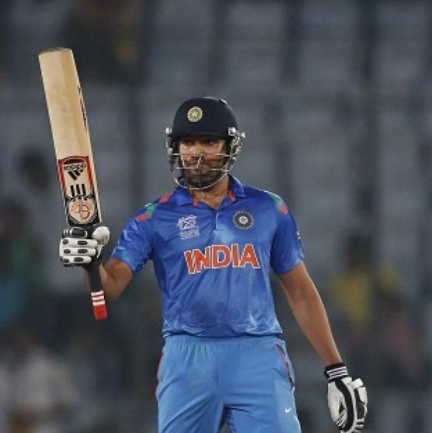Salisbury Journal: Rohit Sharma hit an unbeaten 62 to lead India to victory (AP)