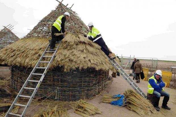 Salisbury Journal: Neolithic houses at Stonehenge