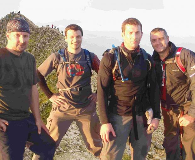 Welsh 3000 charity trek for group of friends