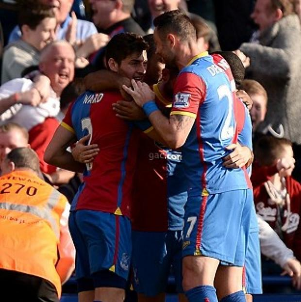 Salisbury Journal: Crystal Palace players celebrate their goal