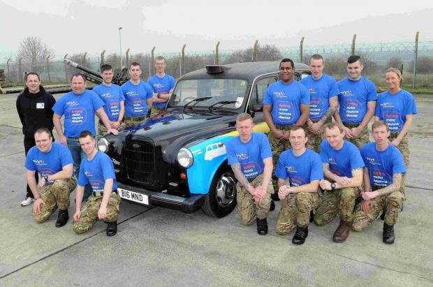 Soldiers raise money for MNDA