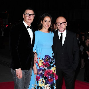 Domenico Dolce and Stefano Gabbana attending The Glamour of Italian Fashion 1945-2014 private dinner at the Victoria and Albert Museum, London.