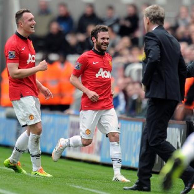 Salisbury Journal: Juan Mata, centre, bagged a brace against Newcastle