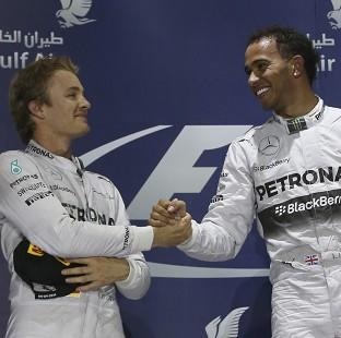 Salisbury Journal: Lewis Hamilton, right, and Nico Rosberg dominated in Bahrain (AP)