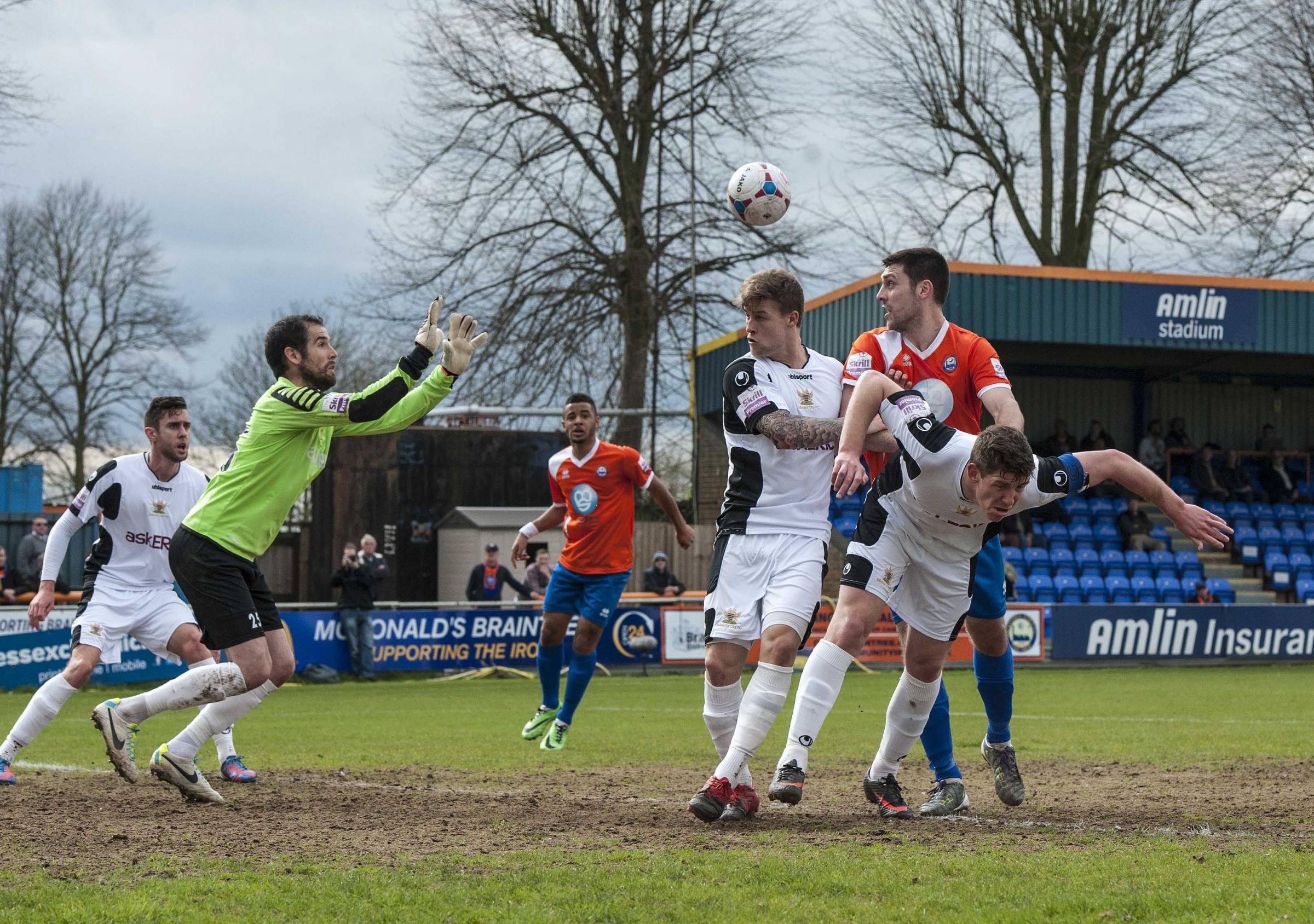 Bittner makes a save at Braintree Town