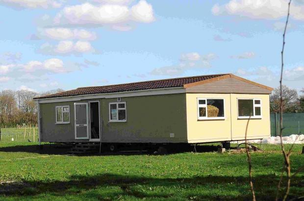 The mobile home off Puddleslosh Lane