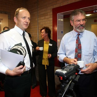 Sir Hugh Orde (left) said Gerry Adams and others had a