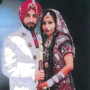 Salisbury Journal: Jasvir Ginday with his wife Varkha Rani on their wedding day (West Midlands Police/PA)